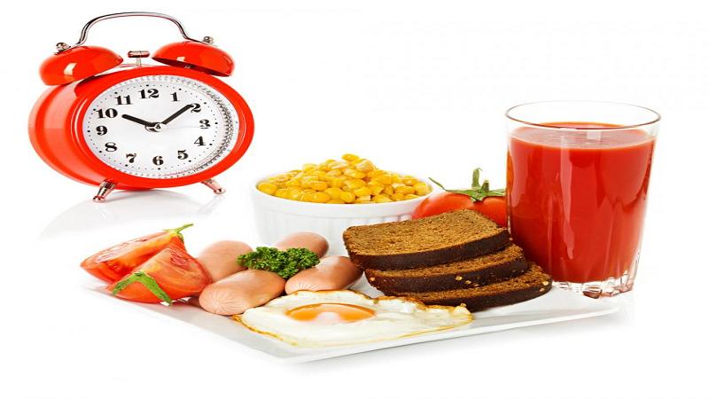 زمان خوردن صبحانه